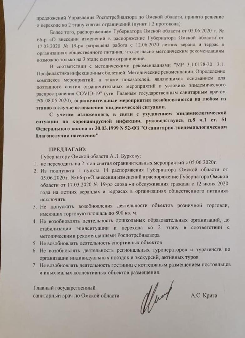 Крига пытается заблокировать открытие детских садов в Омске #Новости #Общество #Омск