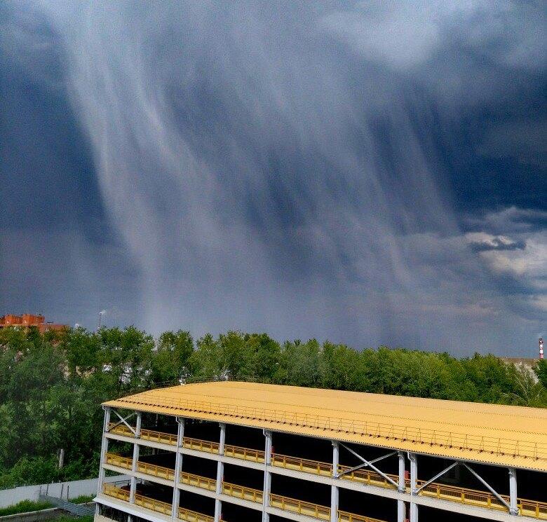 На Омск надвигается непогода со шквалистым ветром и градом #Новости #Общество #Омск