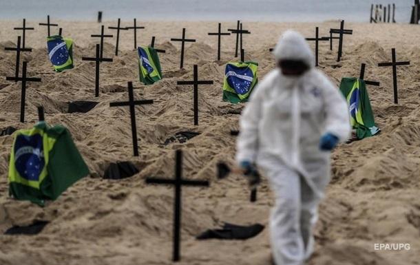 Бразилия стала второй в мире по умершим от COVID