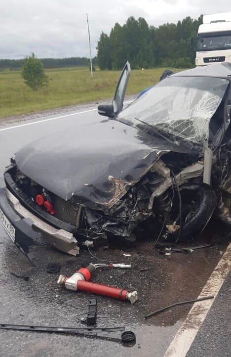 На «трассе смерти» в Омской области водитель иномарки залетел под КамАЗ #Омск #Общество #Сегодня