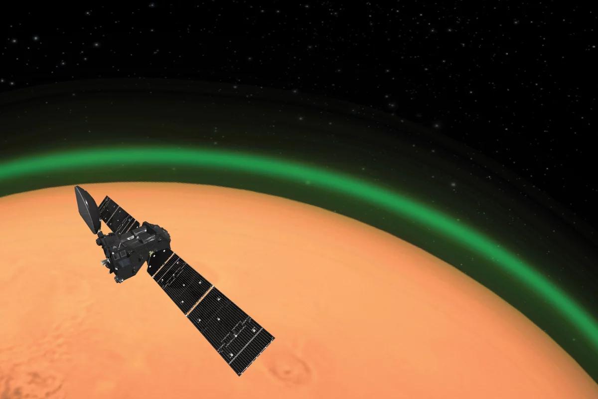 ExoMars видит уникальный зеленый свет на Марсе
