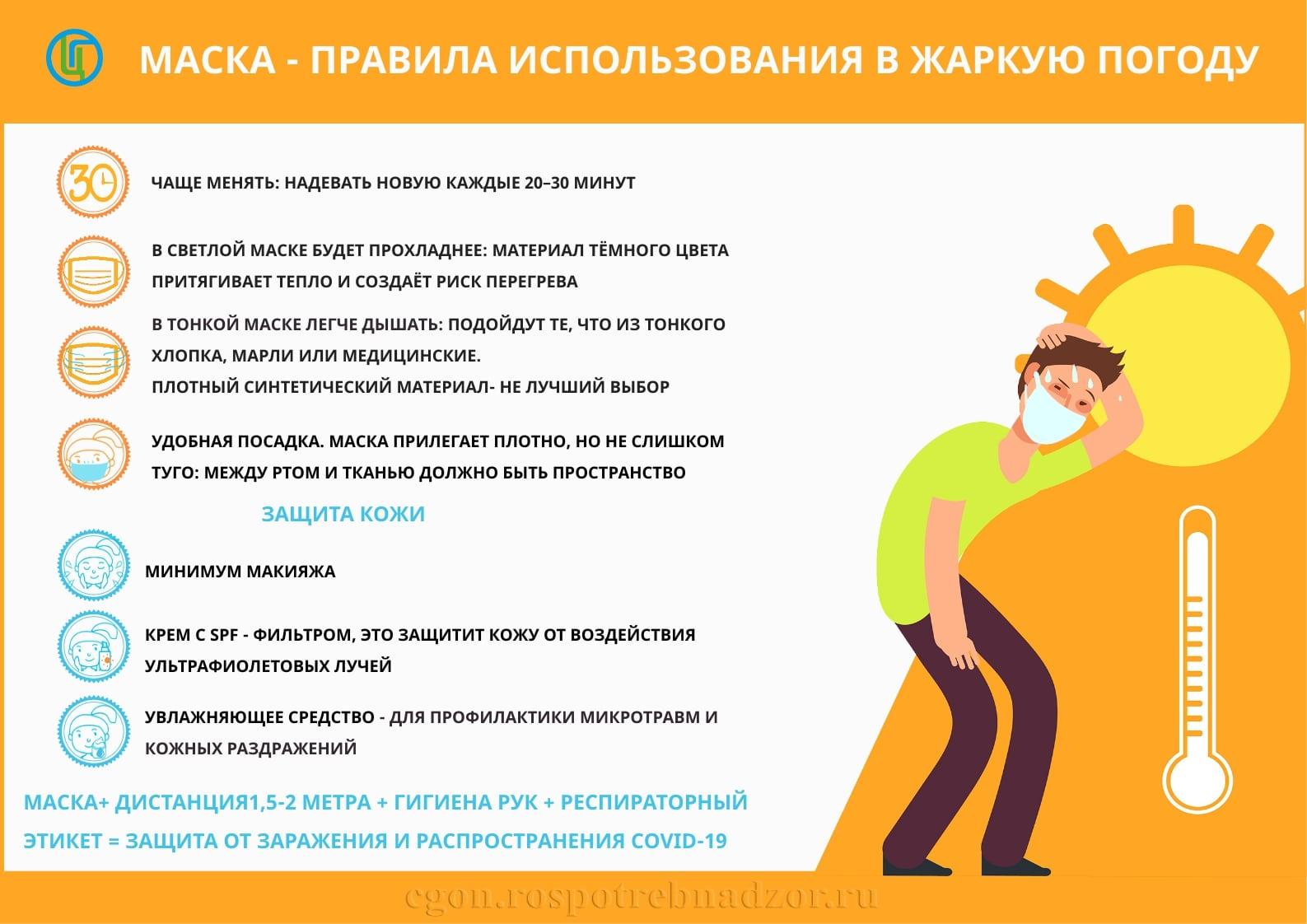 Омичам посоветовали менять маски каждые 20 минут из-за жары #Новости #Общество #Омск