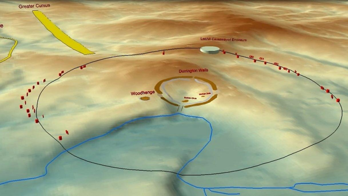 Исключительное открытие большого круга колодцев возле Стоунхенджа