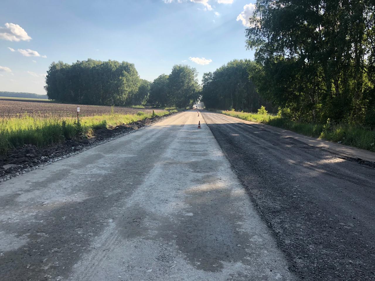 В Омске применяют инновации при ремонте «убитой» дороги до Больших Полей #Омск #Общество #Сегодня