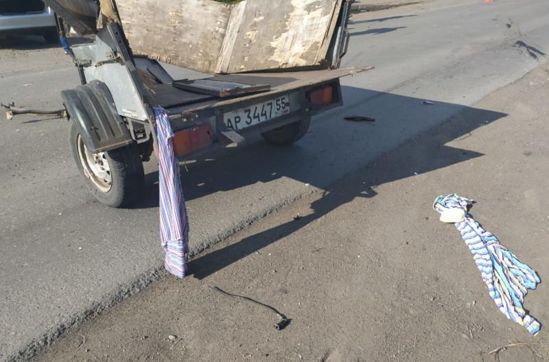 Лишенный прав мотоциклист в Омской области чуть не угробил себя и друга #Новости #Общество #Омск