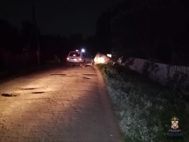 В Омской области юный водитель удирал от полицейских и улетел в кювет #Омск #Общество #Сегодня