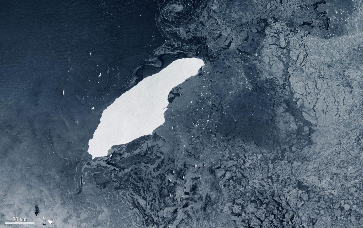 Что же станет с огромным айсбергом, который откололся от Антарктиды 3 года назад?