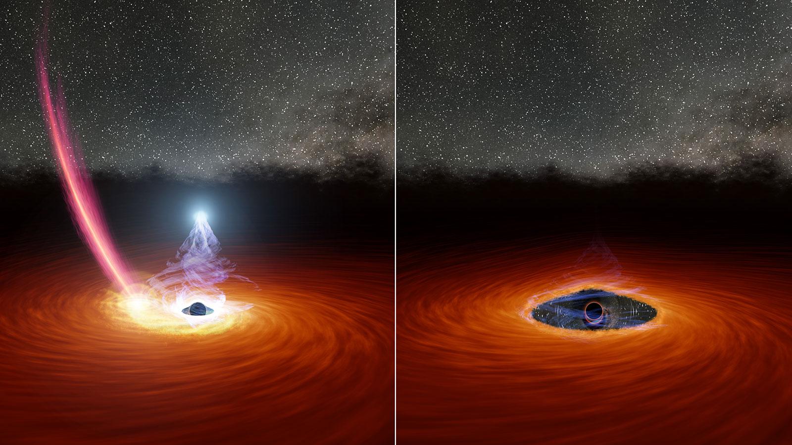 Астрономы наблюдают, как корона черной дыры исчезает, а затем снова появляется