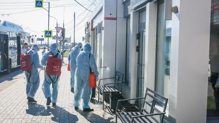 Омск на всякий случай продезинфицировали от коронавируса #Новости #Общество #Омск