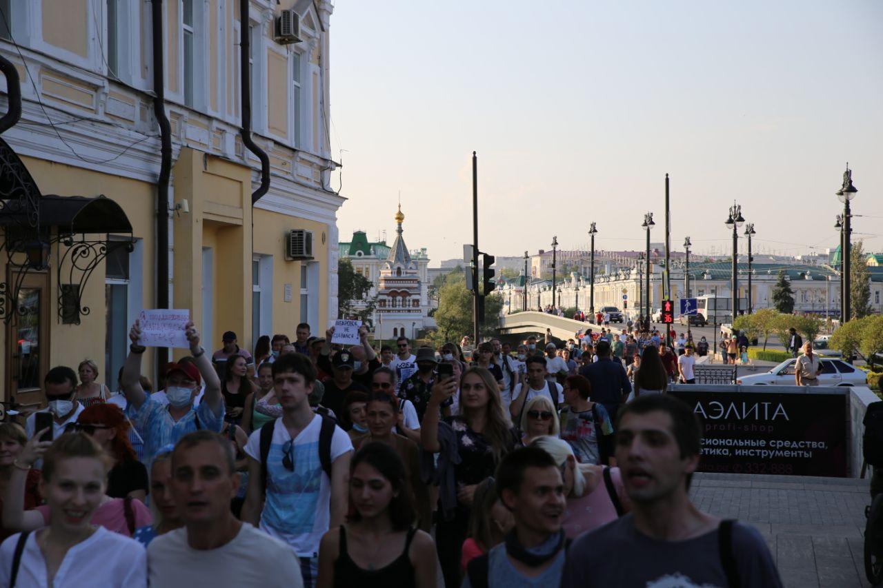 В День города в Омске прошло шествие оппозиции в поддержку протестующего Хабаровска #Омск #Общество #Сегодня