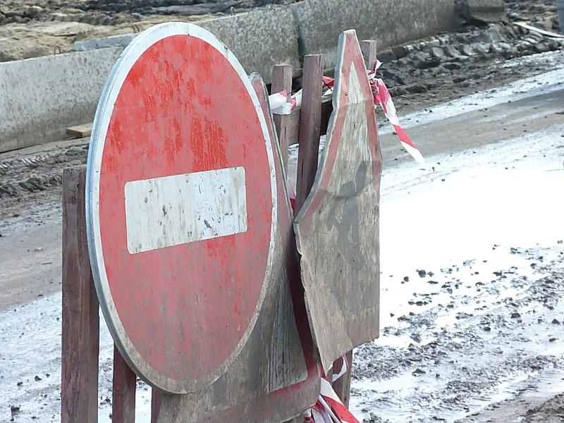 При ремонте дороги в Омске украли знаки #Новости #Общество #Омск