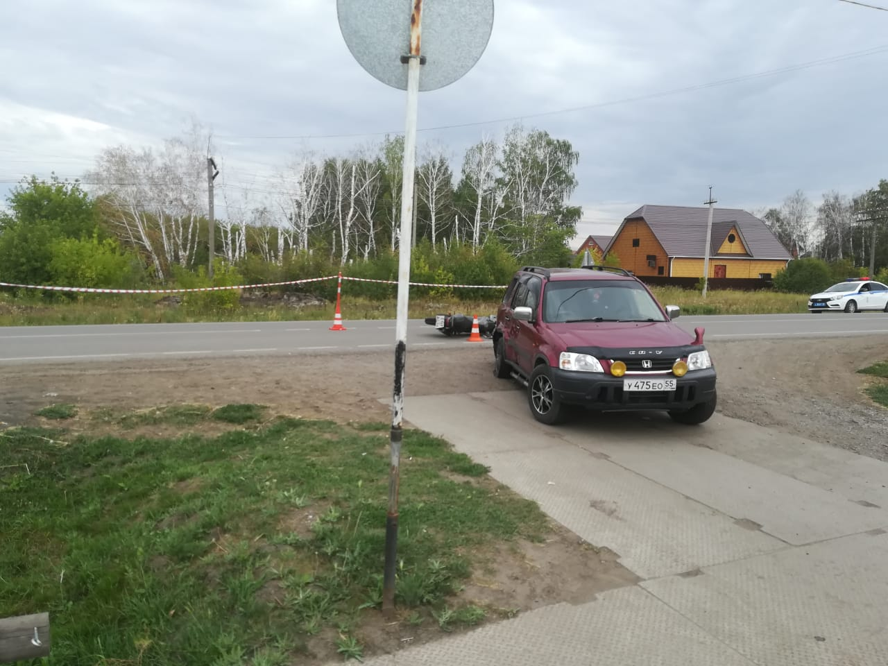 В Омской области попал в больницу юный мотоциклист: в него въехала машина #Новости #Общество #Омск