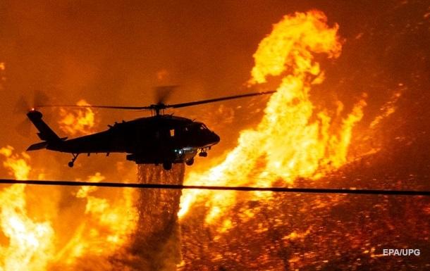 В Калифорнии пылает крупный природный пожар