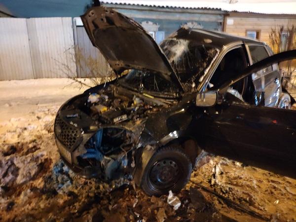 В Омске произошло ДТП с 4 иномарками, одна из которых стала грудой металлолома #Новости #Общество #Омск