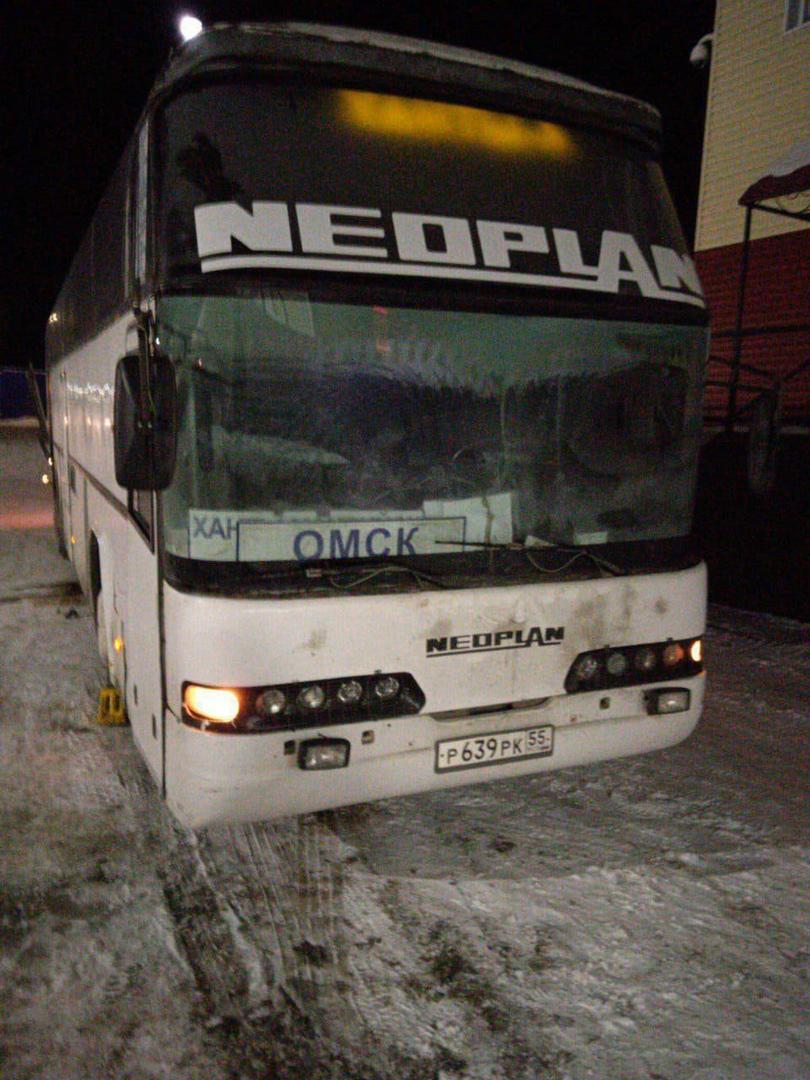В лютый мороз на трассе сломался автобус до Омска #Новости #Общество #Омск