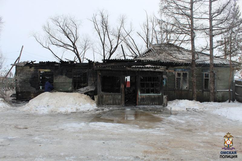 В Омской области спалили здание, чтобы скрыть кражу через форточку #Новости #Общество #Омск