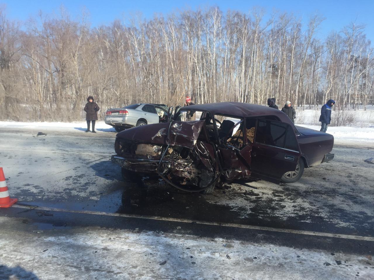 Пенсионер на «семерке» погиб в лобовом столкновении под Омском #Омск #Общество #Сегодня