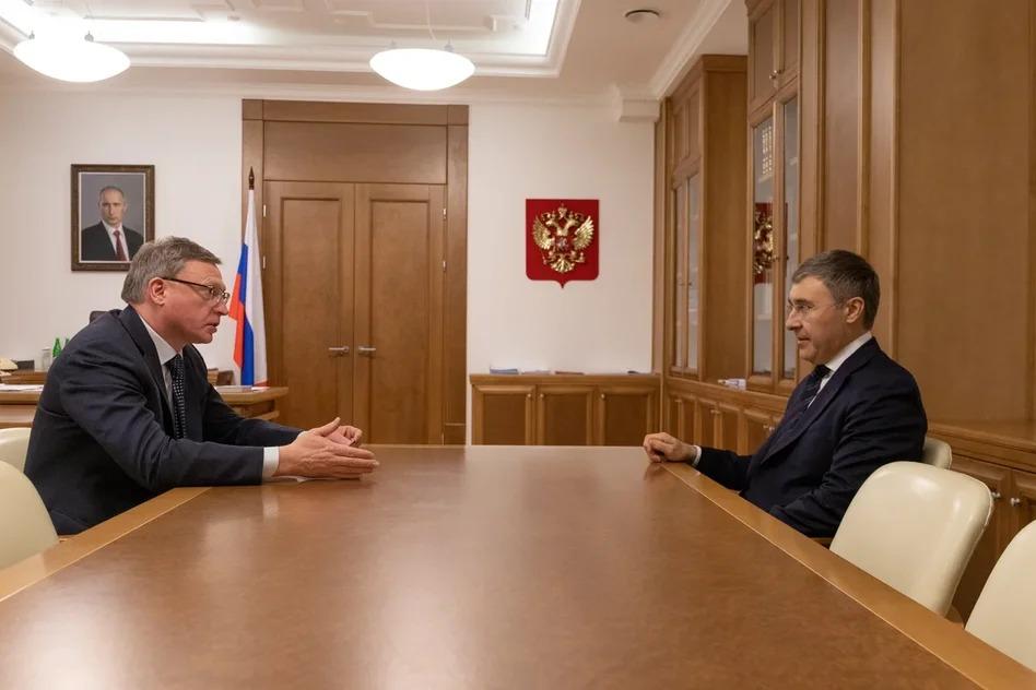 Бурков в Москве обсудил с главой Минобрнауки резинокордные изделия #Омск #Общество #Сегодня