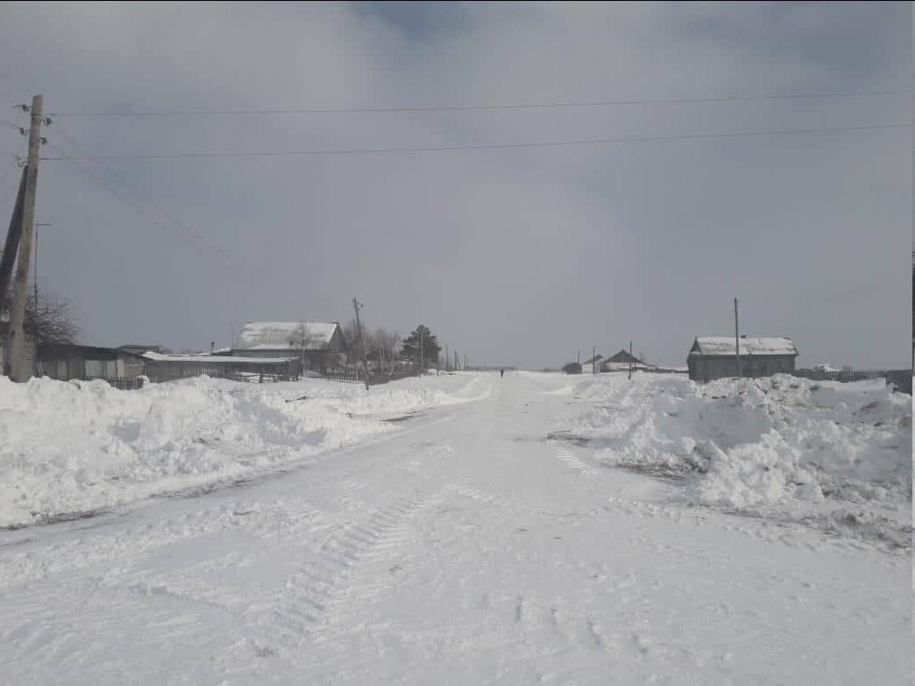 Дорогу до заметенной деревни в Омской области почистили #Новости #Общество #Омск
