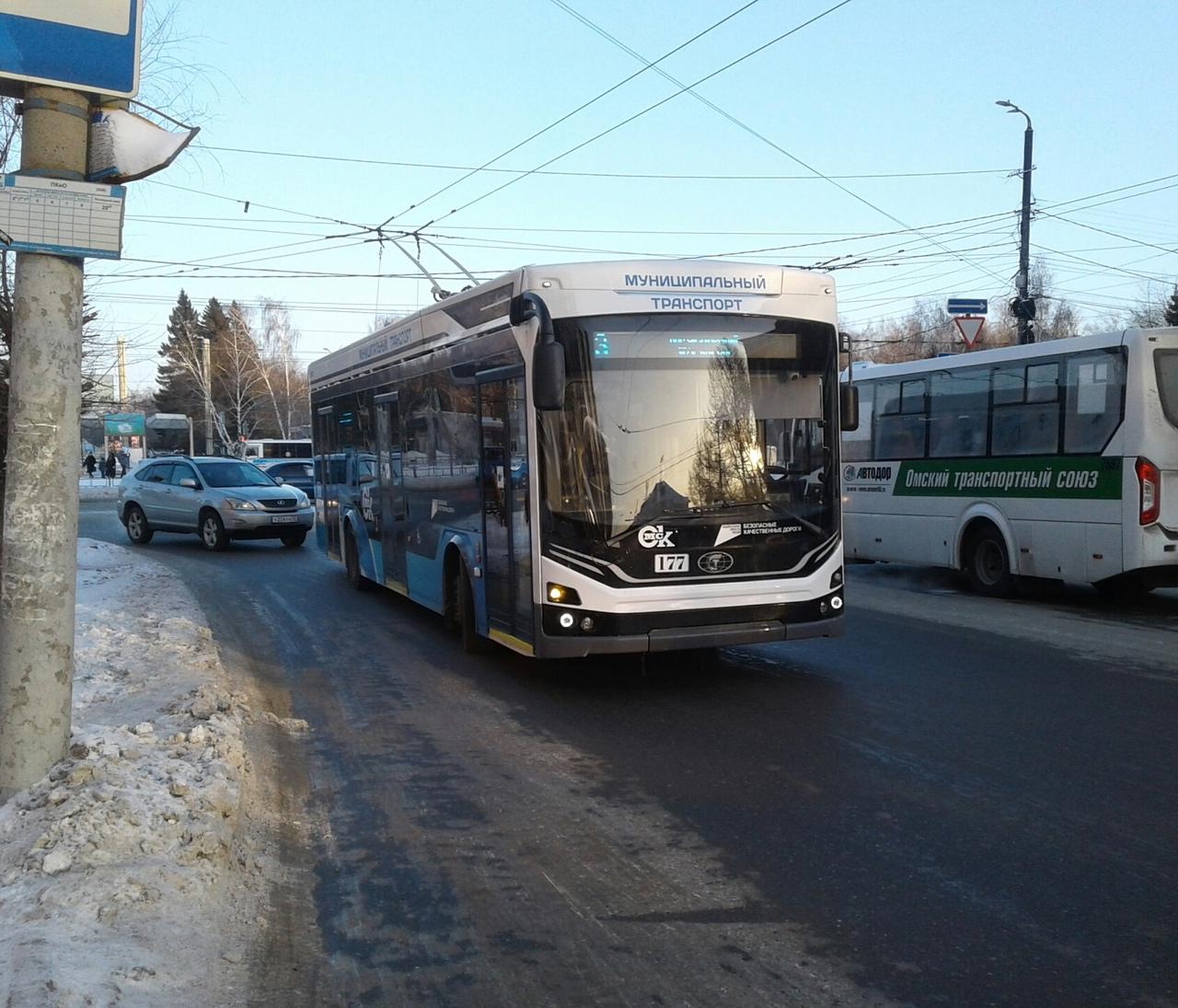 В новых троллейбусах «Адмирал» проехал весь Омск #Омск #Общество #Сегодня