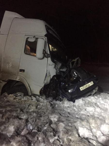 В страшном ДТП под Омском погибли двое мужчин #Новости #Общество #Омск