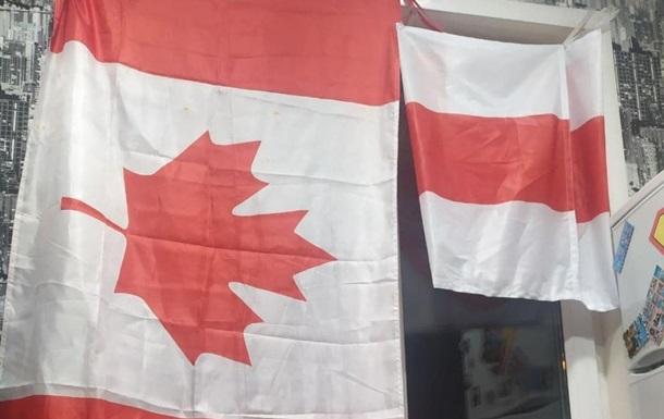 Жителя Минска посадили на 15 суток за вывешенный флаг Канады