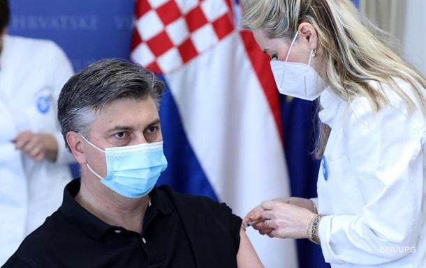 В Хорватии премьер и глава Минздрава привились препаратом AstraZeneca