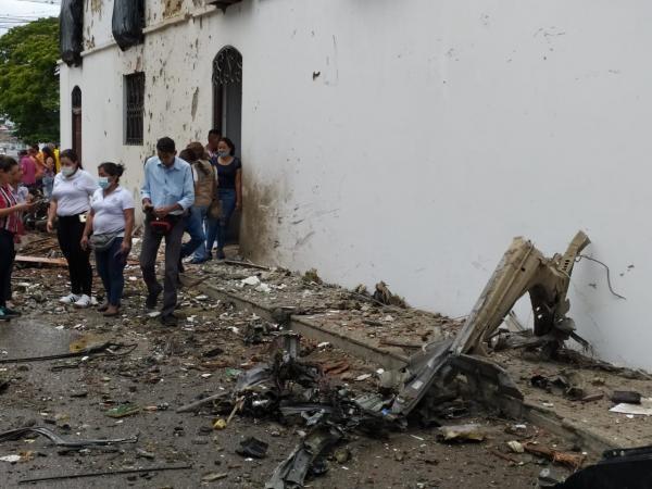В Колумбии у здания мэрии произошел взрыв