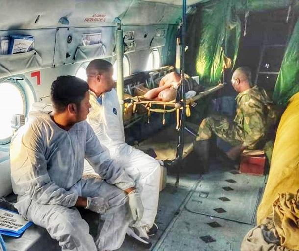В Конго украинские вертолетчики эвакуировали раненых конголезских военных