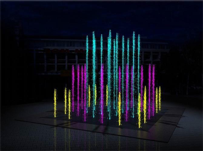 В Калачинске за 6 миллионов установят светодинамический фонтан #Омск #Общество #Сегодня