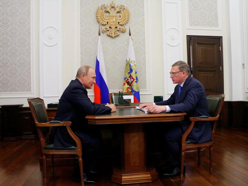 Бурков дал понять, что встречи с Путиным у него не было #Омск #Общество #Сегодня