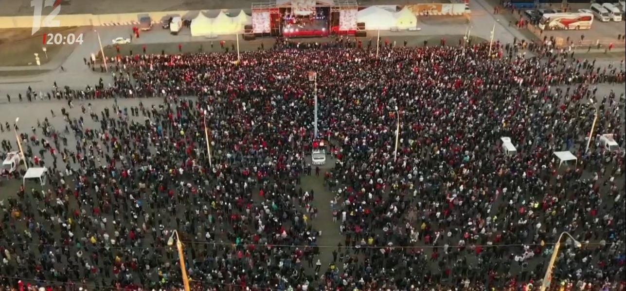 Чествовать «Авангард» собралась огромная толпа омичей #Новости #Общество #Омск