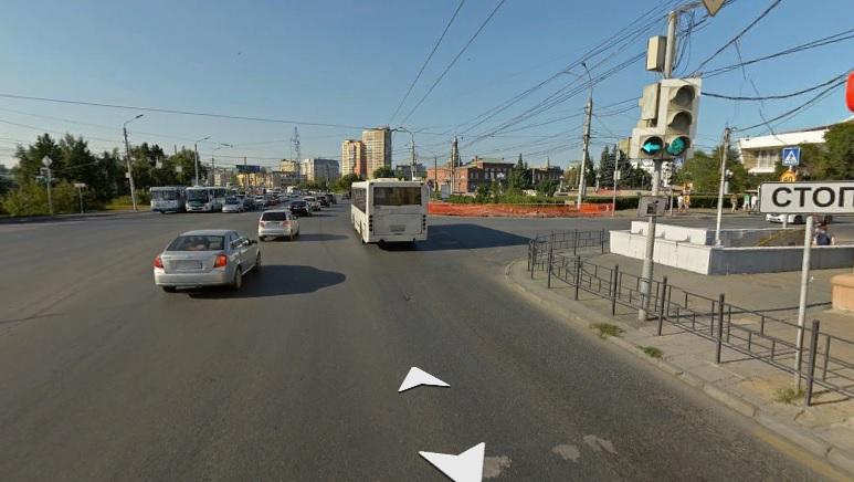 На светофоре в центре Омска устранили конфликтную ситуацию #Новости #Общество #Омск