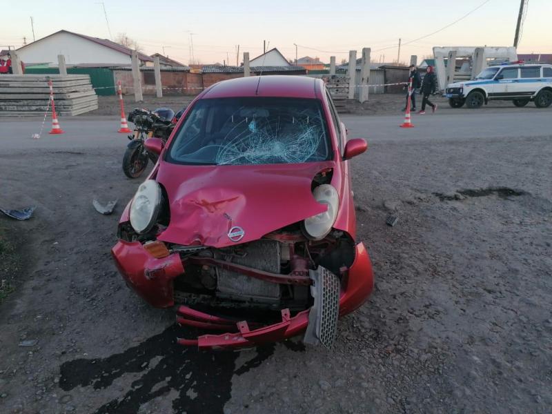 На перекрестке в Омской области столкнулись юные водители без прав #Омск #Общество #Сегодня