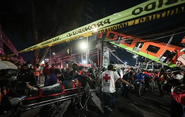 Семьям погибших при крушении поезда метро в Мехико выплатят компенсацию