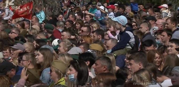 Никого из омичей, пришедших на парад без масок, не оштрафовали #Новости #Общество #Омск