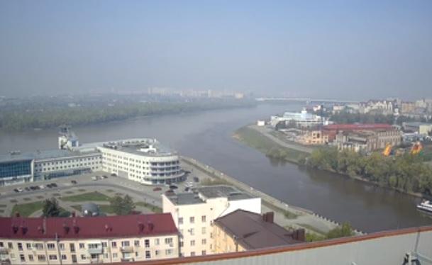 Омск вновь окутал смог от природных пожаров #Омск #Общество #Сегодня
