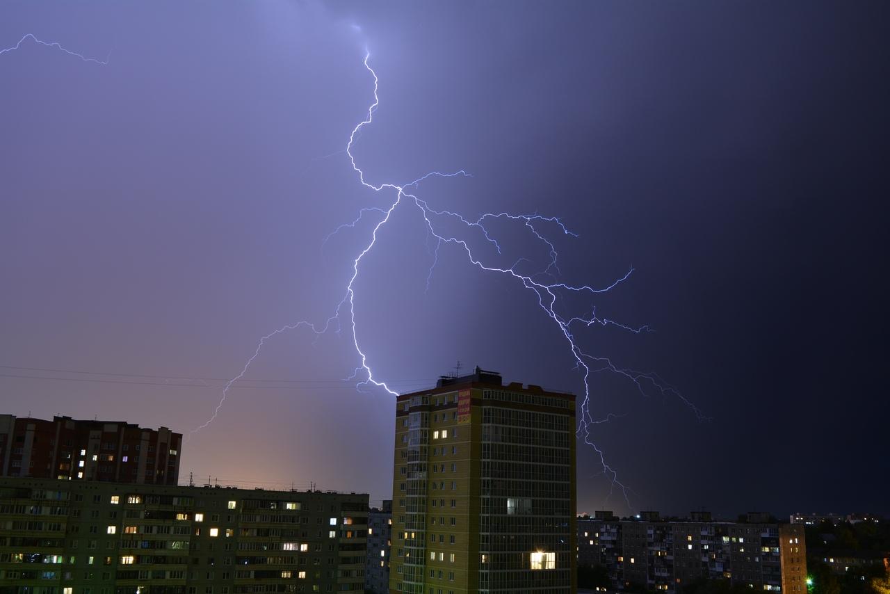 На Омскую область надвигается шторм с грозой и градом #Омск #Общество #Сегодня