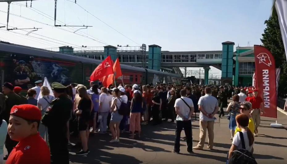 Несколько тысяч омичей встретили «Поезд Победы» #Новости #Общество #Омск