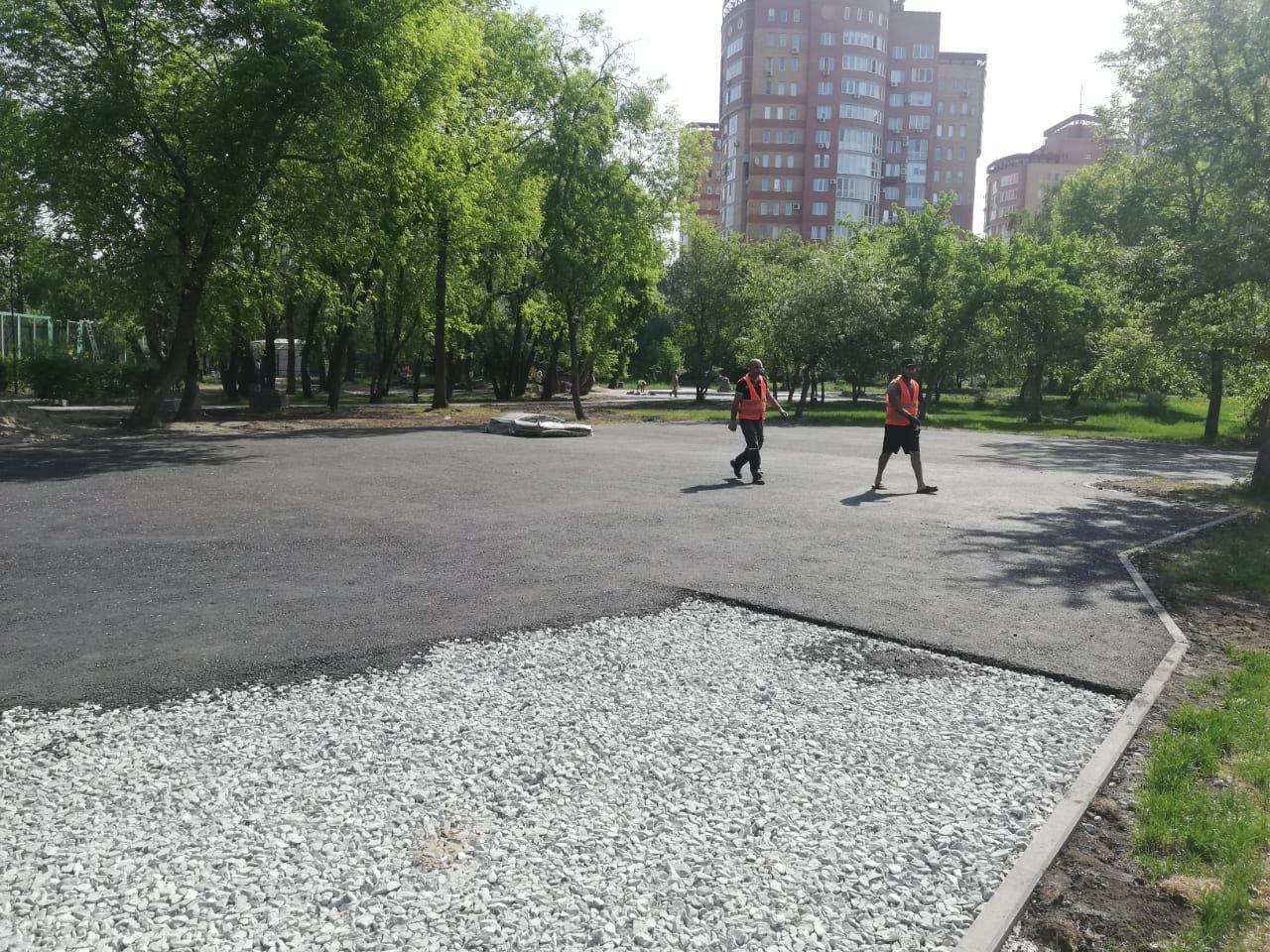 В омском саду Юннатов началось масштабное благоустройство #Омск #Общество #Сегодня