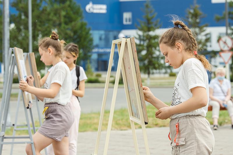 Омский НПЗ стал площадкой для творчества юных художников #Новости #Общество #Омск