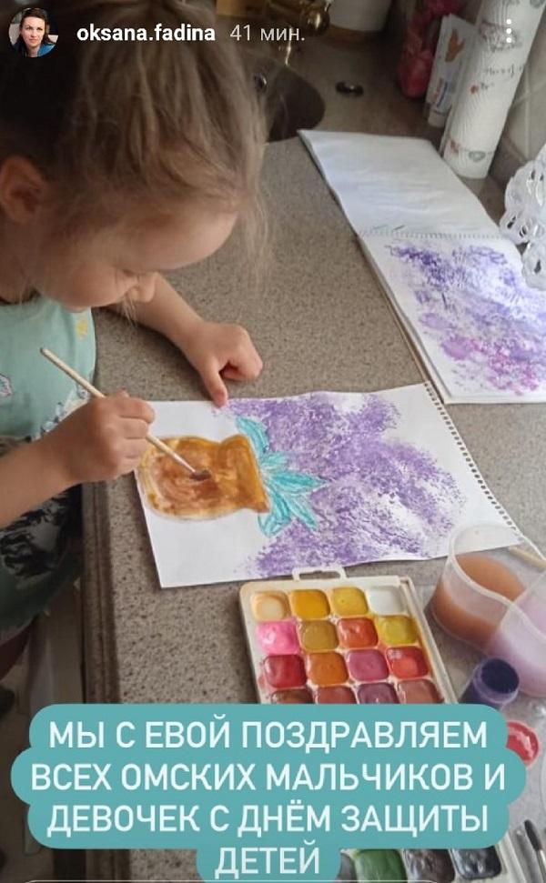 Фадина выложила сторис с дочерью ко Дню защиты детей #Омск #Общество #Сегодня