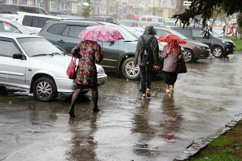 В Омскую область снова идут ливни, грозы и град #Омск #Общество #Сегодня