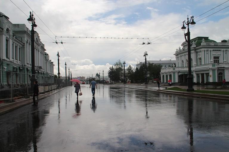 Дожди затопили центр Омска #Новости #Общество #Омск
