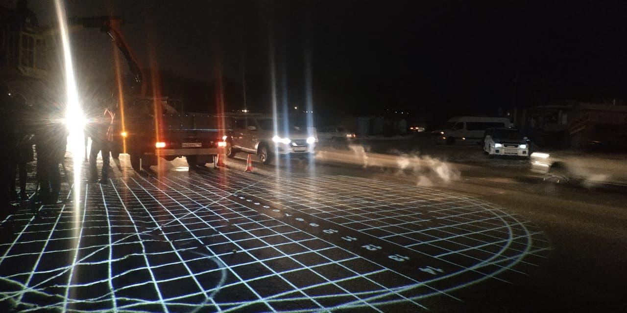 В Омске на трех проекционных «зебрах» снизилась аварийность #Омск #Общество #Сегодня
