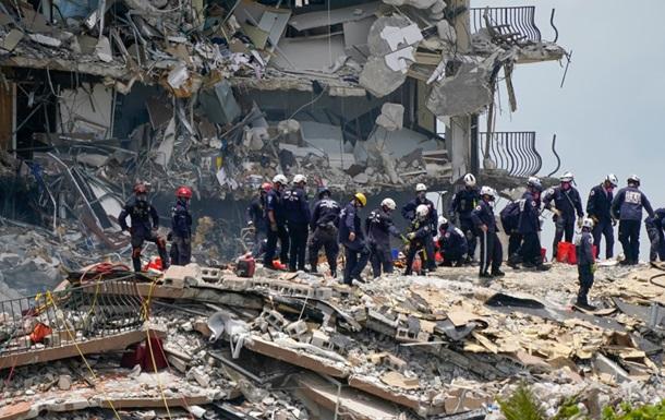 Число погибших при обрушении дома в Майами увеличилось