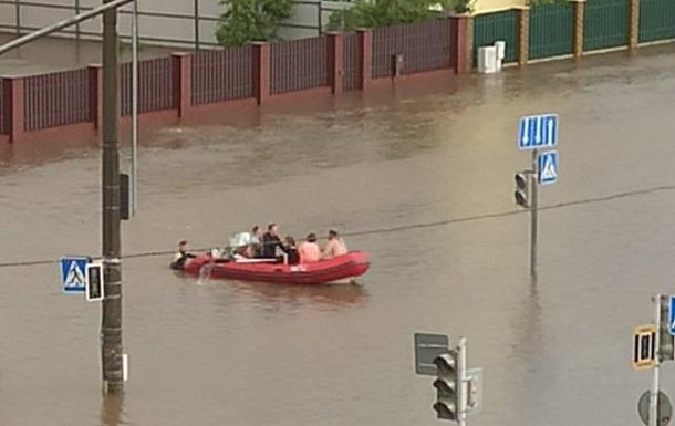 В Минске произошло масштабное наводнение