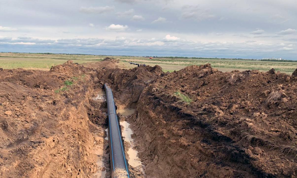 В Омской области заменили участок водопровода, где часто происходили аварии