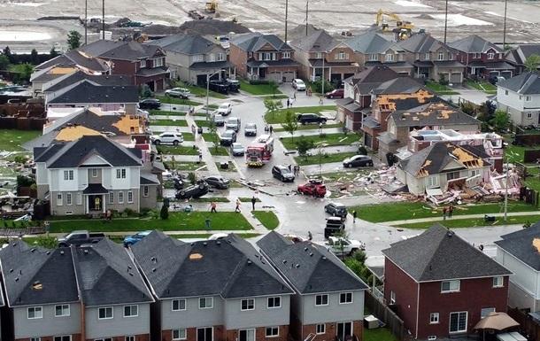 В Канаде торнадо разрушил жилой квартал