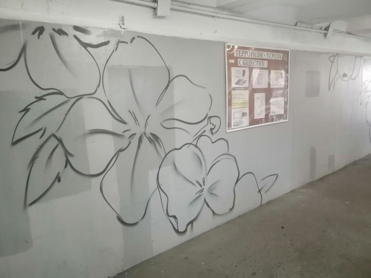 Р' РћРјСЃРєРµ разрисуют подземный переход Сѓ «Яблоньки» #Омск #Общество #Сегодня